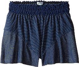 Indigo Lace Waistband Shorts (Big Kids)