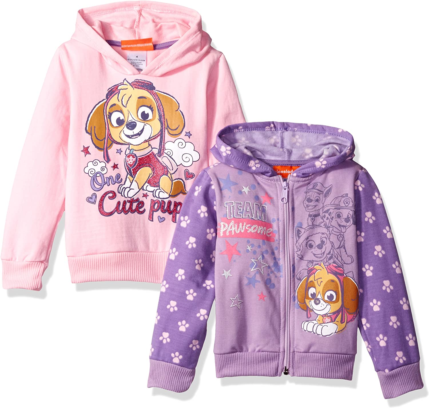 New product! New type Nickelodeon Girls' Paw Patrol New Orleans Mall 2 Pack Hoodies