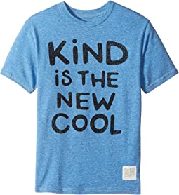 The Original Retro Brand Kids - Kind Is The New Cool Short Sleeve Tri-Blend Crew (Big Kids)