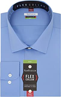 Van Heusen Men's BIG FIT Dress Shirts Flex Collar Solid...
