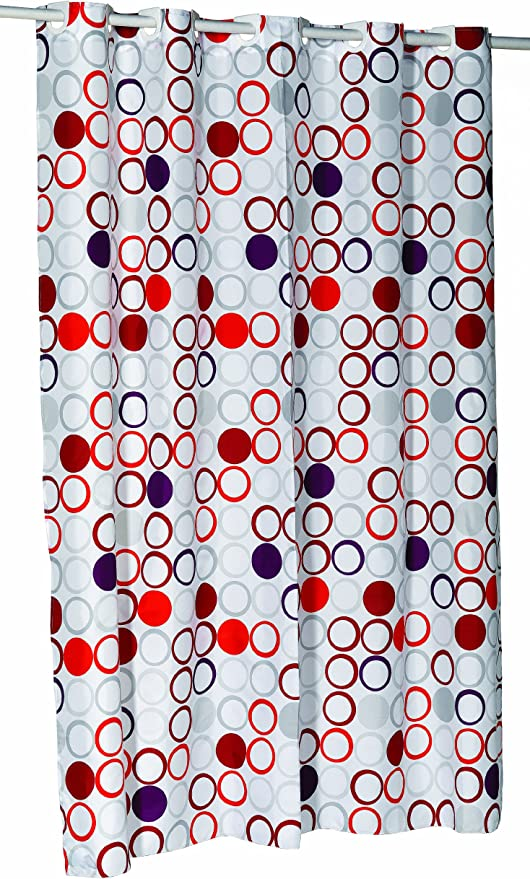 Carnation Home Fashions Ez On No Hooks Needed 54 By 78 Inch Fabric Shower Curtain Stall Size Bohemia Multi Color Home Kitchen