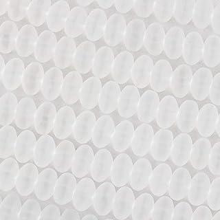 خرز زهرة الكرز زجاج البحر 8 مم خرز رونديل مطفأ اللمعة - 16 بوصة جديلة حوالي 80 خرزة, 5x8mm