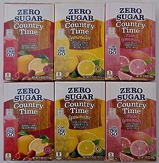 Country Time - On The Go - Bundle of 6 Packages - 2 each flavor: Lemonade - Pink Lemonade - Raspberry Lemonade