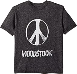 The Original Retro Brand Kids - Mocktwist Woodstock Peace Short Sleeve Tee (Big Kids)