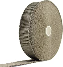 JC Performance Glossy Lava Rock Titanium High Heat Fiberglass Single Roll - 25% Thinner Than Our Standard Wrap! - Exhaust Header & Pipe Wrap Thermo Basalt (1