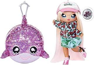 Na Na Na Surprise 2-in-1 Fashion pop en sparkelende pom portemonnee, KRYSTA SPLASH. Surfer pop met luxe outfit & fashion a...