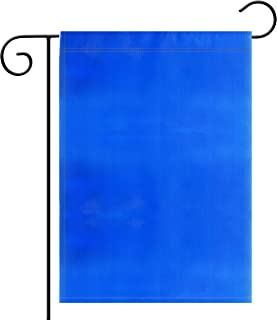 Garden Flag Pure Solid Blue Garden Flag Royal Blue Navy Blue Flag Color Flag, Plain Blue Flags,Garden Decoration Flag,Indoor and Outdoor Flags,Party Decoration, Home Decoration,DIY,Double-Sided.