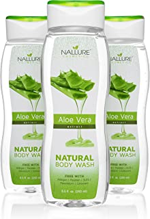 Natural Aloe Vera Body Wash For Dry, Sensitive Skin and Hair - Sulfate-Free, allergens-free Bath and Shower Gel 8.5 oz pac...