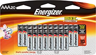 Energizer AAA Batteries, Triple A Battery Max Alkaline (20Count) E92LP-20
