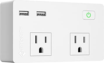 Etekcity Wall Surge Protector Power Strip with 2 USB Charging Ports, 2.4A Fast Charge, 5610 Joules, 1875W/15A, UL Listed, White