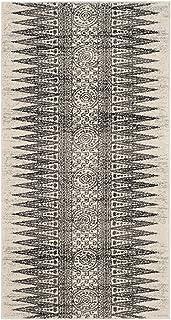 "SAFAVIEH Evoke Collection EVK226D Boho Non-Shedding Living Room Bedroom Accent Rug, 2'2"" x 4', Ivory / Grey"