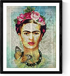 Frida Kahlo Poster with The Definition of Friendship in Spanish. Print of The Mexican Painter Size 11''x17''