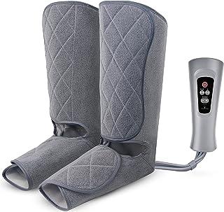 Oliver James benkompressionsmassagerare för kalv-, fot- och benmassage - benmassagerare med värme för förbättrad blodcirku...