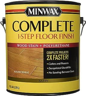 Minwax 672010000 Series 67201 1G Satin Autumn Wheat Complete 1-Step Floor Finish, 1 Gallon