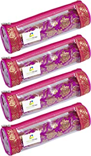HomeStrap Single Rod Travel Bangle Pouch/Organiser- Set of 4 (Pink)