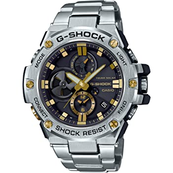 [カシオ] 腕時計 ジーショック G-STEEL スマートフォン リンク GST-B100D-1A9JF メンズ シルバー