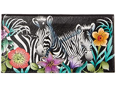 Anuschka Handbags Checkbook Cover 1056 (Playful Zebras) Clutch Handbags