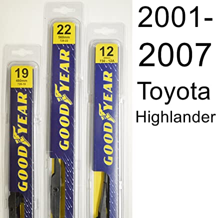 Toyota Highlander (2001-2007) Wiper Blade Kit - Set Includes 22