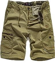 Eaglide Mens Casual Cargo Shorts, Mens Slim Fit Athletic Biking Casual Chino Shorts