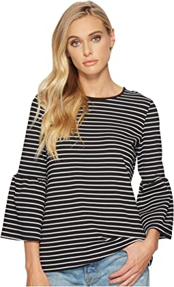 kensie Stretchy Crepe Tees Bell Sleeve Top KS2K312S