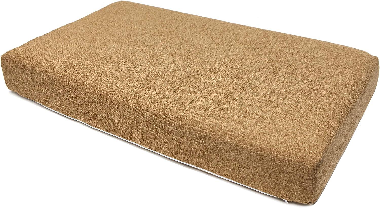 Petique Hemp EcoFriendly Mattress Cover for Pet Bed, Brown, Large