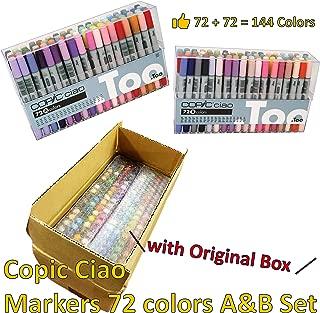 Copic Ciao Premium Artist Markers - 72 color Set A&B Set - with Original A&B Set Box