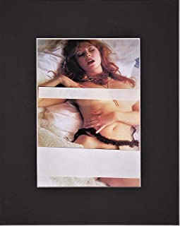 ELVIRA, MISTRESS OF THE DARK, AKA CASSANDRA PETERSON, 8 X 10 NUDE MATTED PHOTO DISPLAY (THE NUDE PHOTO IS 5 X 7)