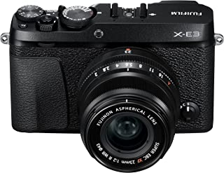 Fujifilm X-E3 Mirrorless Digital Camera w/XF23mmF2 R WR Kit - Black
