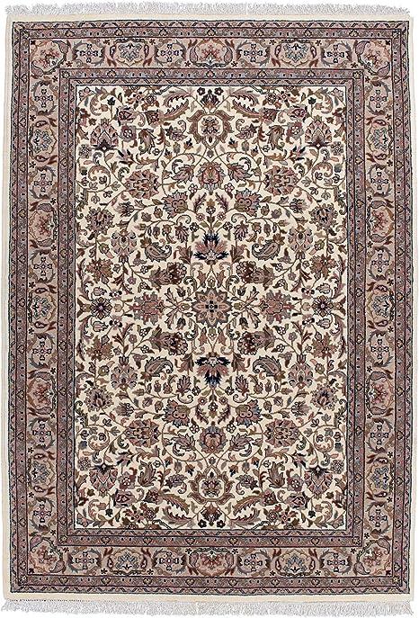 100/% Wolle Orientteppich Wollteppich Perser Klassisch Creme Beige versch Größen