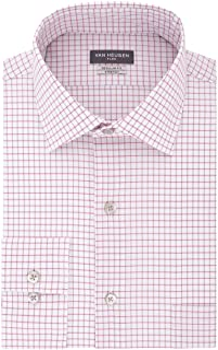 Van Heusen Men's Flex Regular Fit Check Spread Collar Dress Shirt