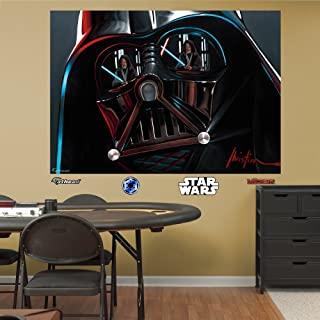FATHEAD Darth Vader: Helmet Mural-Huge Officially Licensed Star Wars Removable Graphic Wall Decal, 72