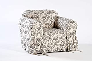 Classic Slipcovers Toile Print Chair Slipcover, 30 to 42