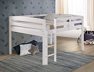 Concord Junior Loft Bed, Full, White