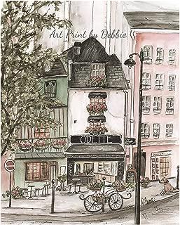 Personalized Vintage Paris Decor, Odette Patisserie Print, Wall Art For Girls French Themed Bedroom, Unframed Fine Art Print, Blush Pink Parisian Nursery - 6 Sizes