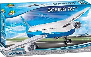 Avião Boeing 787 com 600 Peças COBI Blocos de Montar Branco