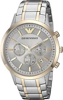 Emporio Armani Men's Dress Watch Quartz Stainless-Steel Strap, Silver, 13 (Model: AR11076)