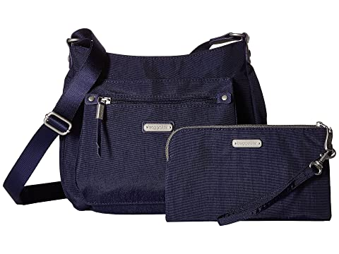 RFID Uptown Phone Bagg New Baggallini Wristlet Navy Classic con qHw4RvXx