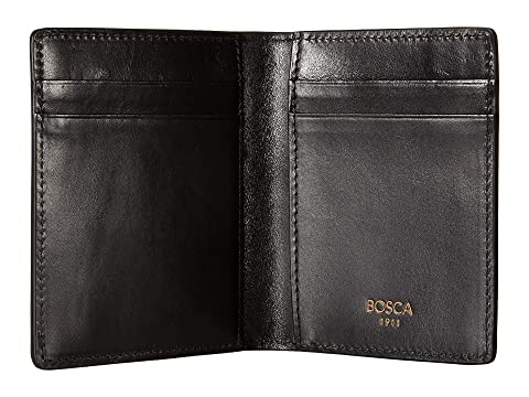 lujo frontal bolsillo de Cartera en Bosca negro con Dolce Colección P6W0P