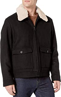 Calvin Klein Men's Wool Trucker Jacket With Sherpa Collar Coat
