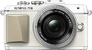 Olympus PEN Lite E-PL7 (White) with 14-42mm F3.5-6.3 EZ Lens (Silver) - International Version (No Warranty)