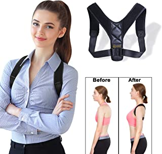 Back Posture Corrector For Women and Men By Luxeroots Athletics- Adjustable and Comfortable Upper Back Brace Straightener for Clavicle Support - Providing Pain Relief from Neck Back and Shoulder