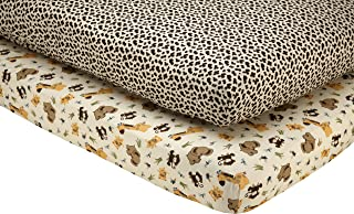 Little Bedding by NoJo Jungle Dreams - 2 Count Crib Sheet Set