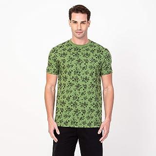 T-shirt Vonpiper Caveira e Flores Masculina Verde