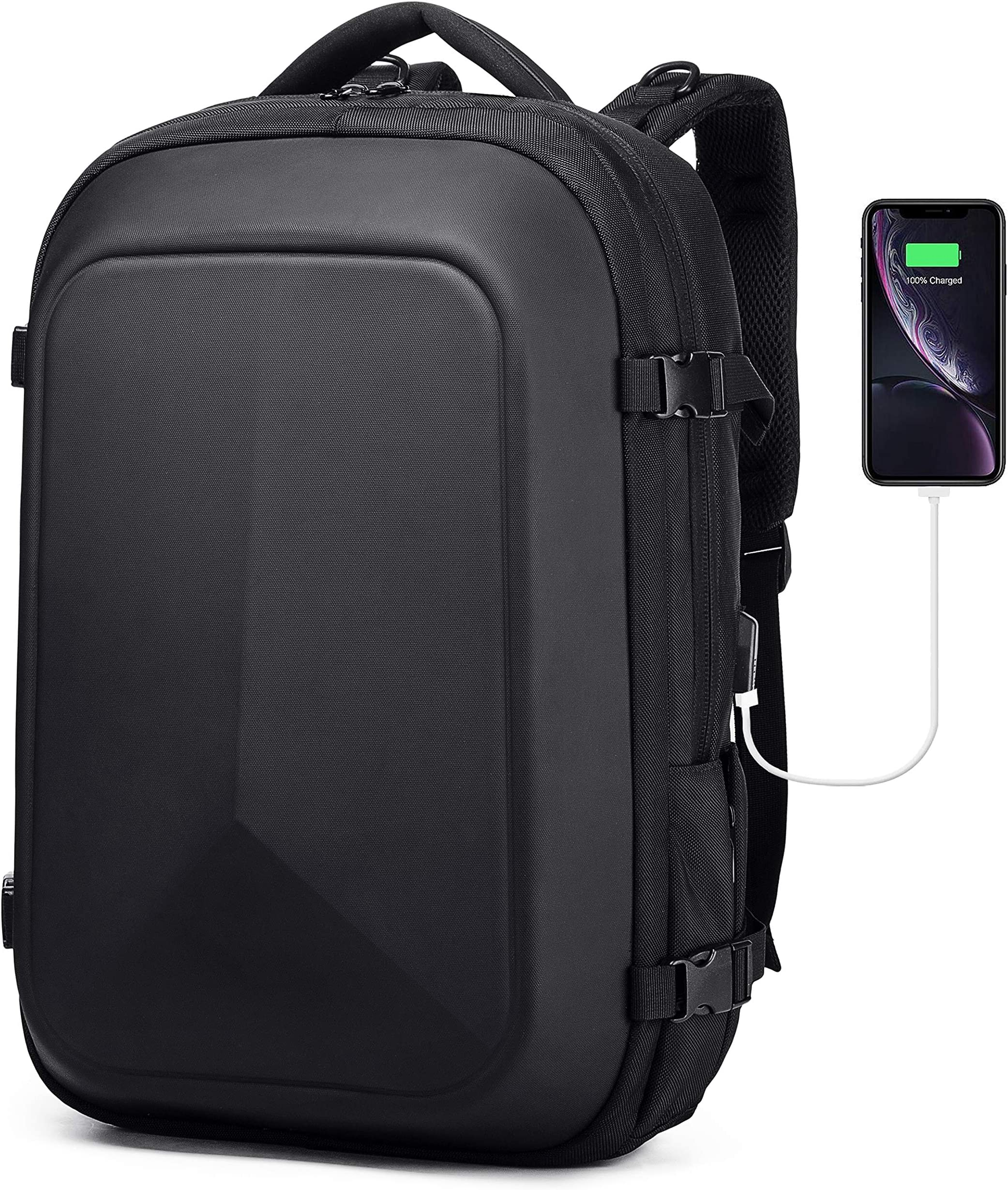 Careteilly Laptop Backpack For Men -Water-Proof Hard Shell Backpack For Travel,Camping,Riding,Cycling-Large shockproof Laptop Backpacks Fit for 17 inch with USB charging port