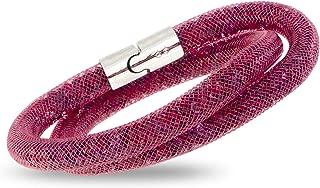 Swarovski Stardust Ruby Ladies Double Bracelet 5139748