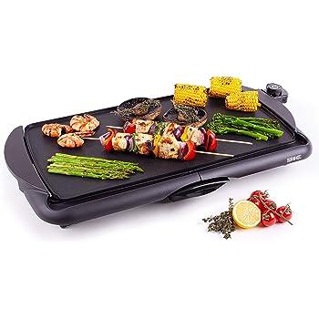 Jata GR195 Plancha de Asar Cocina por Igual en Toda la Superficie 46 x 25 cm Antiadherente Libre de PFOA Muy resistente al rayado Fácil limpieza con Bandeja Colectora de Salsas: Jata: