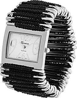Geneva Womens Platinum Safety Pin Stretch Watch
