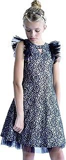 فستان بأكمام طويلة مطبوع عليه ورود جميلة للفتيات الصغيرات من Smukke, Big Girls (خيارات)، 7-16