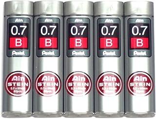 Pentel Ain Pencil Leads 0.7mm B, 40 Leads X 5 Pack/total 200 Leads (Japan Import) [Komainu-Dou Original Package]