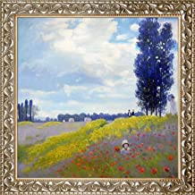 overstockArt Walk in The Meadows at Argenteuil by Monet with Rococo Silver Frame